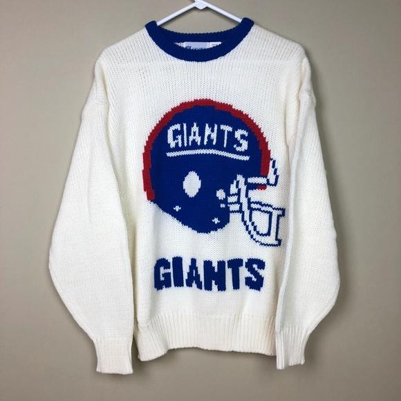 8e160414 VTG New York Giants Cliff Engle Wool Sweater Sz L